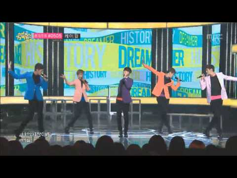 [720p] 130427 History - Dreamer @ Music Core (Debut Stage)