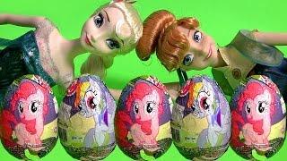 getlinkyoutube.com-My Little Pony Chocolate Surprise Easter Eggs MLP Mi Pequeño Poni Huevos Sorpresa DisneyCollector