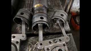getlinkyoutube.com-Two cilinder Alpha Stirling engine -part 1-