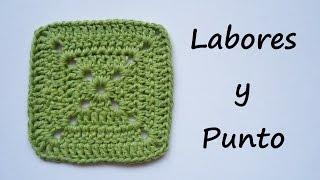 getlinkyoutube.com-Aprende a tejer este cuadrado patchwork 1 a ganchillo o crochet