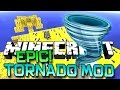 Minecraft TORNADO LUCKY BLOCK ISLAND MOD! EPIC STORMS, TIDAL WAVES, DESTRUCTION! Mod Showcase