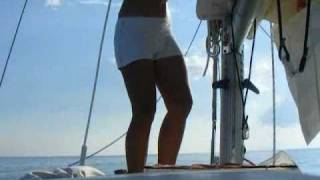 getlinkyoutube.com-Liveaboard Solo Sailor Girl Cruising Adventures: Calm, Stormy & Great!
