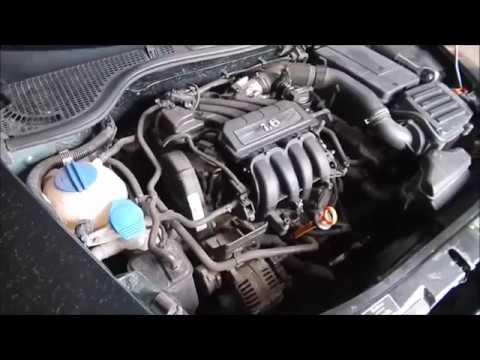 Где в Skoda Октавия А5 щуп масла в двигателе