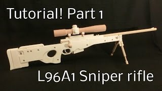 getlinkyoutube.com-Tutorial! L96A1 Part 1 [rubber band gun]
