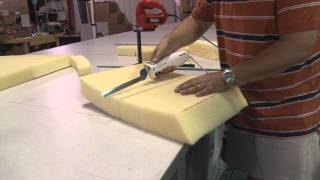 getlinkyoutube.com-Cutting Cushion Foam using Electric Kitchen Knife