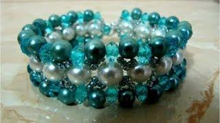getlinkyoutube.com-DIY accesorios de moda pulseras  -fashion accessories bracelets with stones and pearls