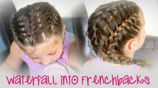 getlinkyoutube.com-Waterfall into Double Frenchbacks | Sport Hairstyles