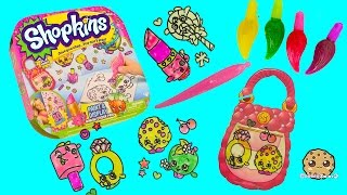 getlinkyoutube.com-Make Your Own Shopkins Stickers with Gel Paints - Paint & Display Kit - Cookieswirlc