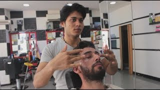ASMR Pakistani Barber Face,Head and Body Massage 133 👍💈💆‍♂️