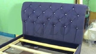getlinkyoutube.com-HOW TO REUPHOLSTER A TUFTED HEADBOARD AND INSTALL THE BED FRAME TOGETHER - ALO Upholstery