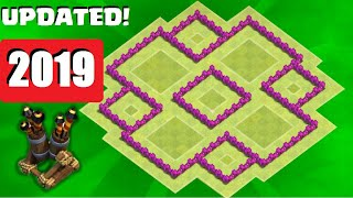getlinkyoutube.com-Clash of Clans - th6 Hybrid base / with second 2 air defense/ANTI GIANT HEALER/ speed build