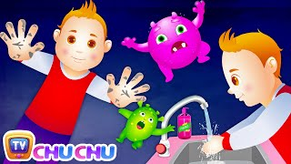 getlinkyoutube.com-Wash Your Hands Song for Kids | Good Habits Nursery Rhymes For Children | ChuChu TV