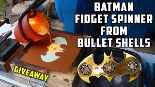 Casting Brass Batman Fidget Spinner from Bullet Shells width=
