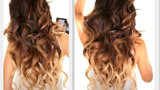 getlinkyoutube.com-★ BIG FAT Voluminous CURLS HAIRSTYLE | How To Soft Curl | Ombre Hairstyles
