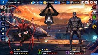 getlinkyoutube.com-Mejor Uniforme Spiderman Marvel Future Fight Clasico Negro o Nuevo & Traje Rayo Negro