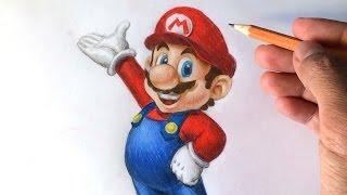getlinkyoutube.com-How to draw Super Mario 3D [Nintendo] Drawing Tutorial