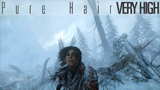 getlinkyoutube.com-Rise of the Tomb Raider PURE HAIR Graphics comparison - Off / On / Very High
