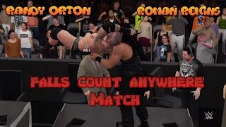 getlinkyoutube.com-WWE 2K16 - Randy Orton Vs Roman Reigns - Falls Count Anywhere Match - Wrestlemania 32 [Dream Match]