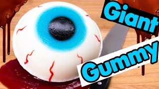 getlinkyoutube.com-How to Make a Giant Gummy Eyeball filled w/ Edible Blood Slime from Cookies Cupcakes and Cardio