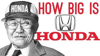 How BIG is Honda? (Largest Motorbike Producer)