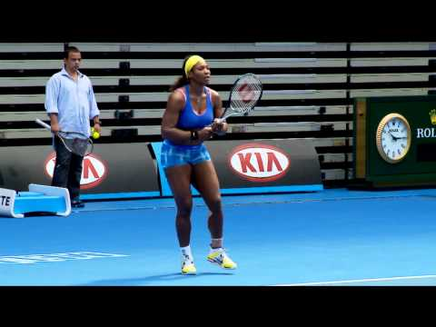 Serena Williams Practice Session: Australian Open 2012