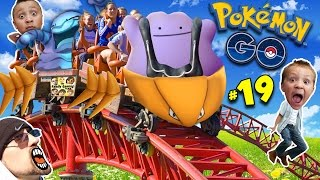 getlinkyoutube.com-♪ POKEMON GO DITTO SONG ♬ + Kabutops Roller Coaster NEW EVOLUTIONS! (FGTEEV Update Gameplay #19)