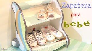 getlinkyoutube.com-Cómo hacer una Zapatera para bebé en forma de carrito