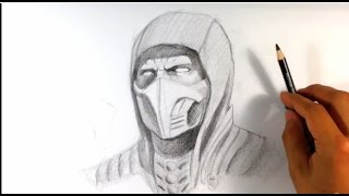 getlinkyoutube.com-How to Draw Scorpion from Mortal Kombat X - Easy Things to Draw