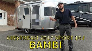 getlinkyoutube.com-Walk Through 2017 Airstream Sport 16J Bambi Small Travel Trailer
