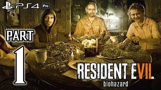 RESIDENT EVIL 7 Biohazard Walkthrough PART 1 (PS4 Pro) No Commentary Gameplay @ 1080p HD ✔