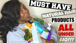 getlinkyoutube.com-MUST HAVE Curly/ Natural Hair Products | ALL UNDER $10 | for All Hair Types