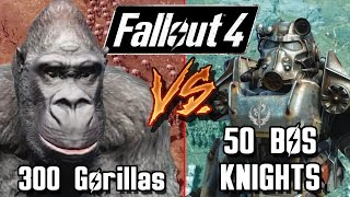 getlinkyoutube.com-300 Gorillas vs 50 BOS Knights | Fallout 4 Battle Arena | Battle Request