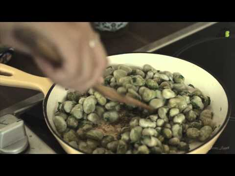 ( @3almezan | مطبخ ميزان ٤ |وصفة الفول الاخضر الصحية )