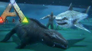 getlinkyoutube.com-Ark Survival Evolved - OCEAN BREEDING, BABY MOSASAUR, MEGALODON (Ark Gameplay)