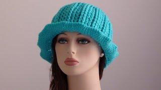 getlinkyoutube.com-Vera Crochet Ribbed Hat - Crochet Ribbed Hat