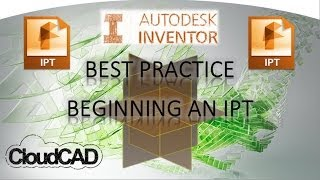 Best practice for starting a 3D model | Autodesk Inventor