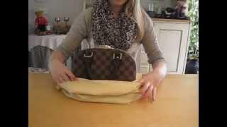 getlinkyoutube.com-Louis Vuitton Alma bb in Damier Ebene unboxing and reveal