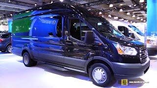 getlinkyoutube.com-2015 Ford Transit 350 HD XLT Passenger Van - Exterior and Interior Walkaround - 2015 NY Auto Show