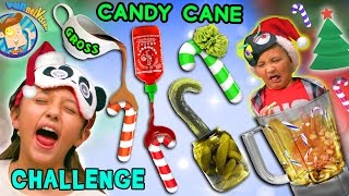 getlinkyoutube.com-CANDY CANE CHALLENGE w/ Gross and Weird Flavors + Nasty Smoothie Mix  (FUNnel Vision Taste Test Fun)
