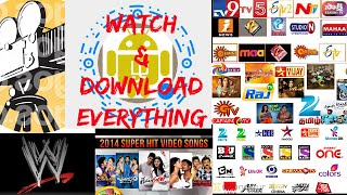 Watch & download Movies,TVs & Sports & wwe,Telugu,Hindi,English, Tamil,Kannada,more{Telugu}
