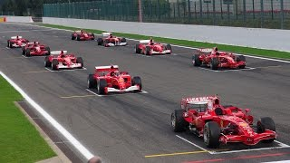 getlinkyoutube.com-Ferrari Formula 1 Corse Clienti - EPIC Line up! V8/V10/V12