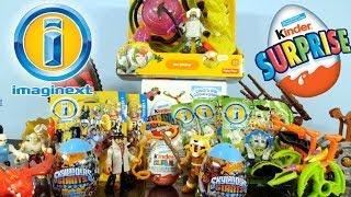 getlinkyoutube.com-Imaginext Surprise Bags + Toys Super Unboxing 2014 + Kinder Surprise Egg - Disney Cars Toy Club
