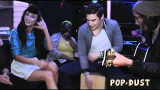 "Karmin perform ""Brokenhearted"" on the POPDUST Party Bus"