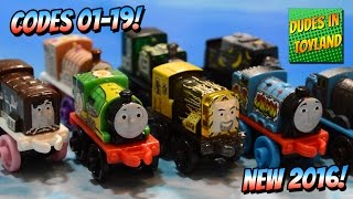 getlinkyoutube.com-Thomas MINIS NEW 2016 blind bags CODES! 01-19 Thomas and Friends train toy videos for kids Target