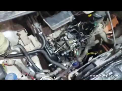 Установка насоса подкачки на Peugeot Expert с ТНВД Lucas DPC