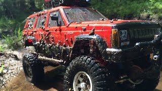 getlinkyoutube.com-Skansman RC - Axial SCX10 Jeep Cherokee - Muddy Hell