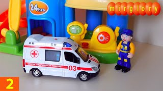 getlinkyoutube.com-Машинки мультфильм - Город машинок - 2 серия: Автомойка машин, автосервис. Развивающие мультики