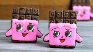 getlinkyoutube.com-SHOPKINS CHEEKY CHOCOLATE BAR COOKIES, HANIELA'S