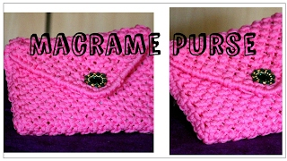 Full Making of Handmade Macrame Ladies Purse.