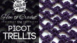 getlinkyoutube.com-How to Crochet the Picot Trellis Stitch